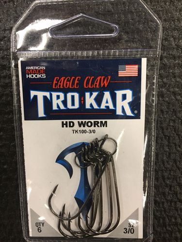 TROKAR HD WORM HOOK 3/O