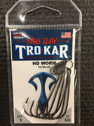 TROKAR HD WORM HOOK 5/O