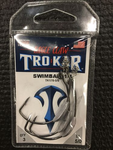TROKAR SWIMBAIT 1/4oz WEIGHTED HOOK 5/O