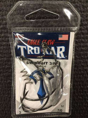 TROKAR SWIMBAIT 3/8oz WEIGHTED HOOK 7/O