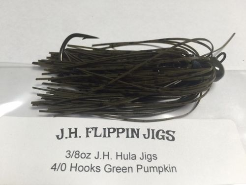 JH HULA JIGS-3/8oz- GREEN PUMPKIN