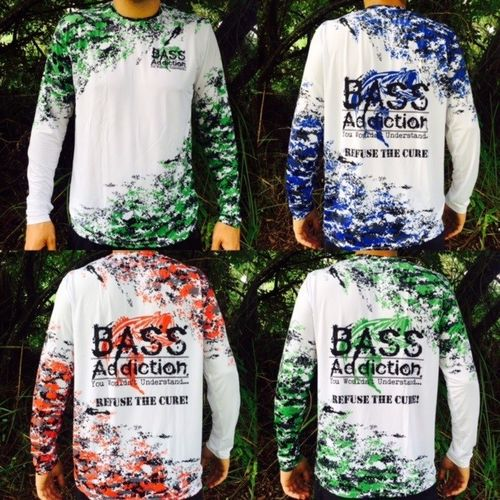 BASS ADDICTION- REFUSE THE CURE LONG SLEEVE- GREEN