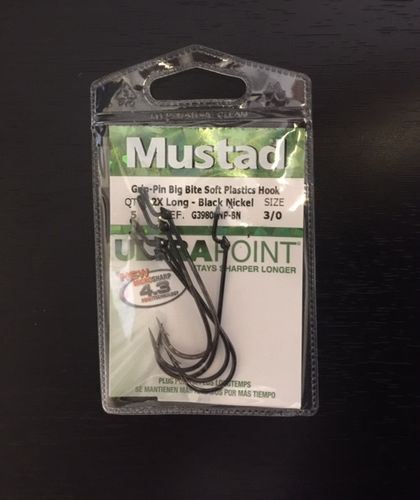 MUSTAD GRIP PIN BIG BITE SOFT PLASTICS 3OT