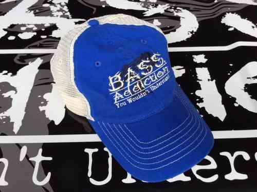 BASS ADDICTION TRUCKER HAT- BLUE