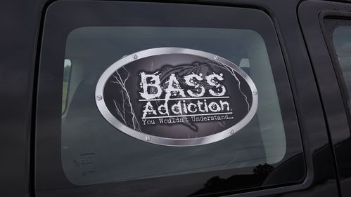 "BASS ADDICTION LIGHTNING STICKER-LARGE 14"" x 8"""