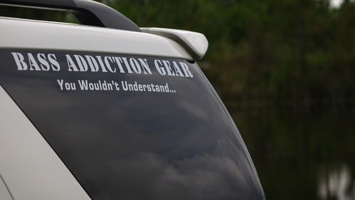 BASS ADDICTION GEAR STICKER-SMALL 18""