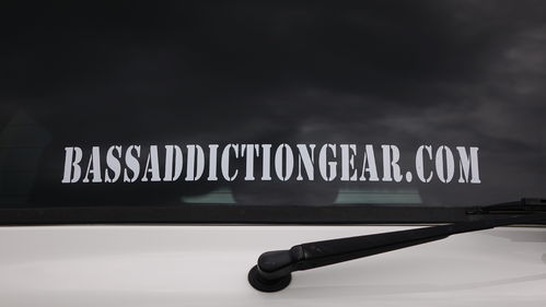 BASSADDICTIONGEAR.COM STICKER- SMALL 18""