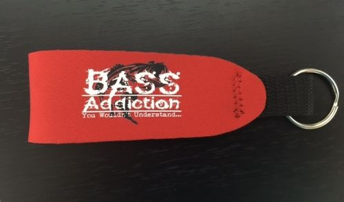 BASS ADDICTION FLOATING STRAP KEYCHAIN