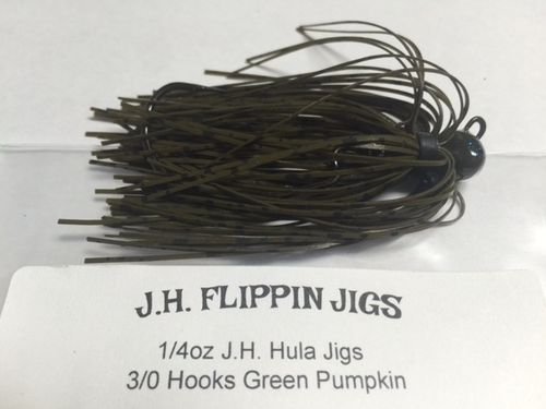 JH HULA JIGS-1/4oz- GREEN PUMPKIN