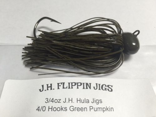 JH HULA JIGS-3/4oz- GREEN PUMPKIN