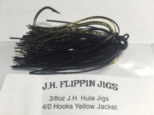 JH HULA JIGS-3/8oz- YELLOW JACKET