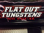 "FLAT OUT TUNGSTEN TRUCK AND BOAT STICKER- 15"" X 5"""
