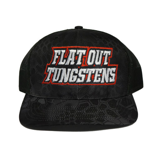 FLAT OUT TUNGSTEN HAT- SNAP BACK- KRYPTEK